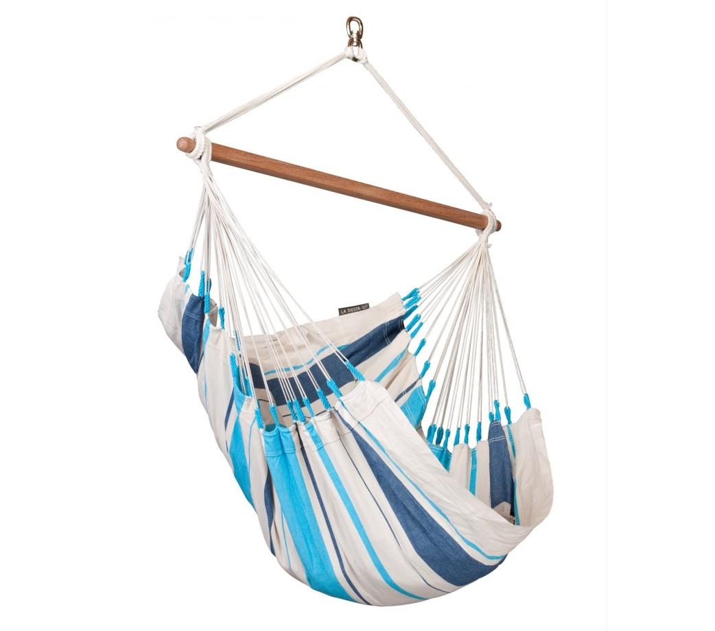 chaise hamac basic colombienne caribe a bleu la siesta. Black Bedroom Furniture Sets. Home Design Ideas