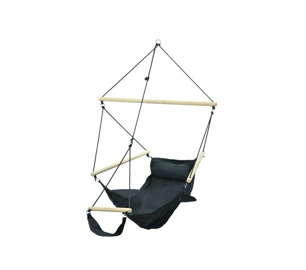 Fauteuil suspendu design swinger noir amazonas - Chaise hamac suspendu ...
