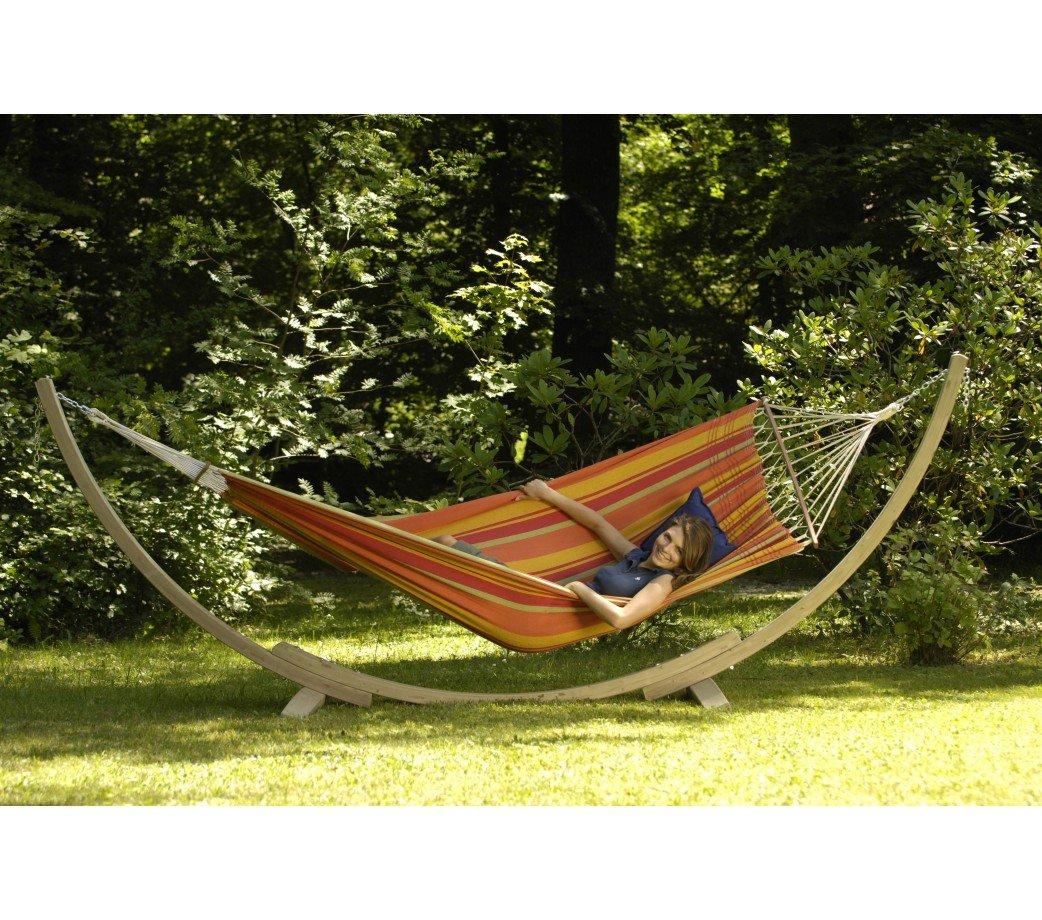 support en bois apollo pour hamac simple ou double amazonas. Black Bedroom Furniture Sets. Home Design Ideas