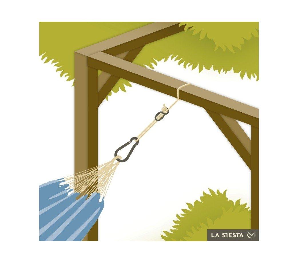 Kit pour fixer un hamac entre deux arbres for Fixation pour plafond suspendu