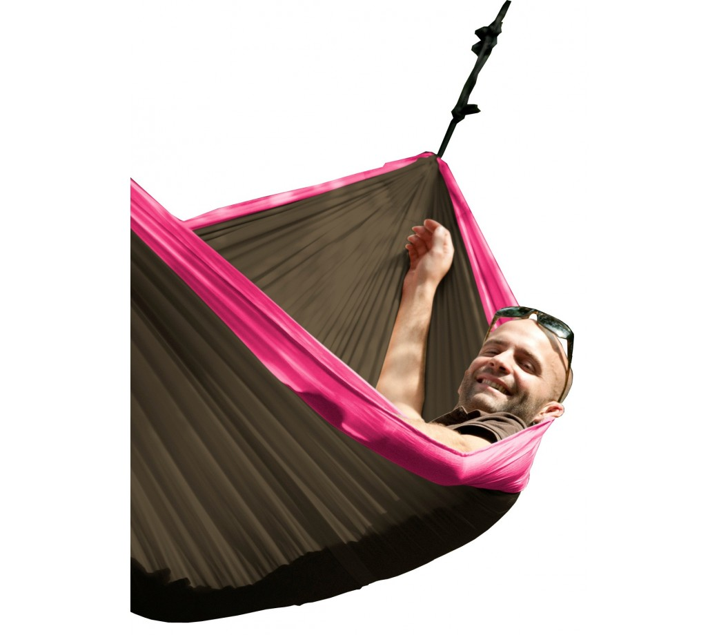 hamac de voyage double colibri fuchsia la siesta. Black Bedroom Furniture Sets. Home Design Ideas