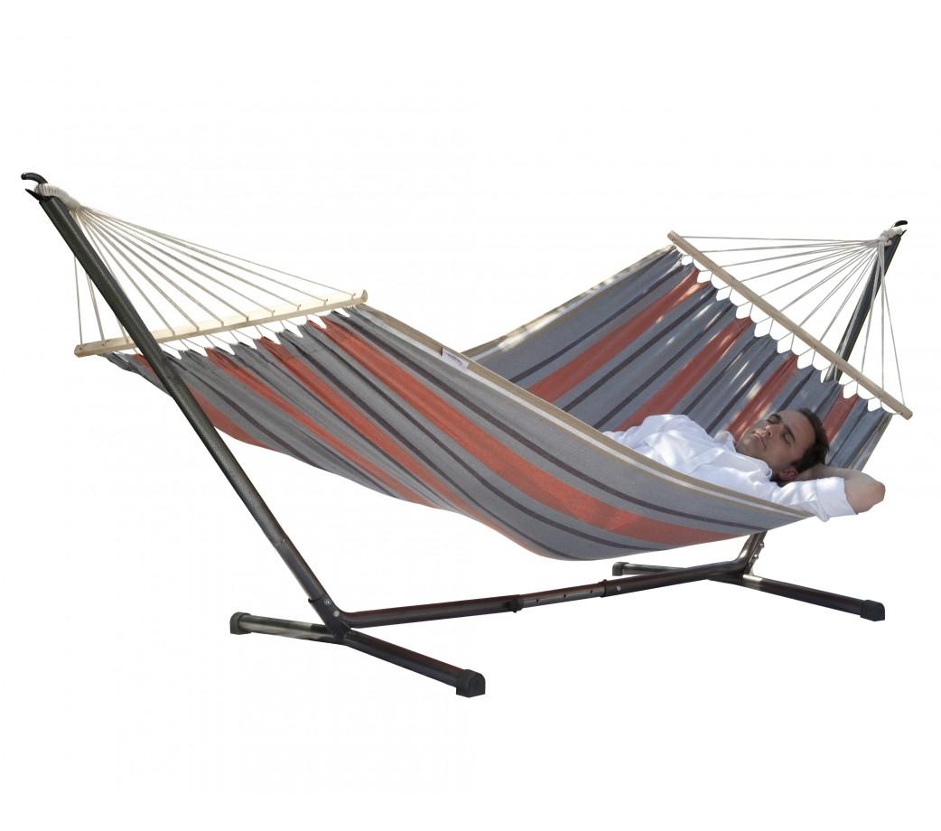 hamac avec support sumo mansalay safranis. Black Bedroom Furniture Sets. Home Design Ideas