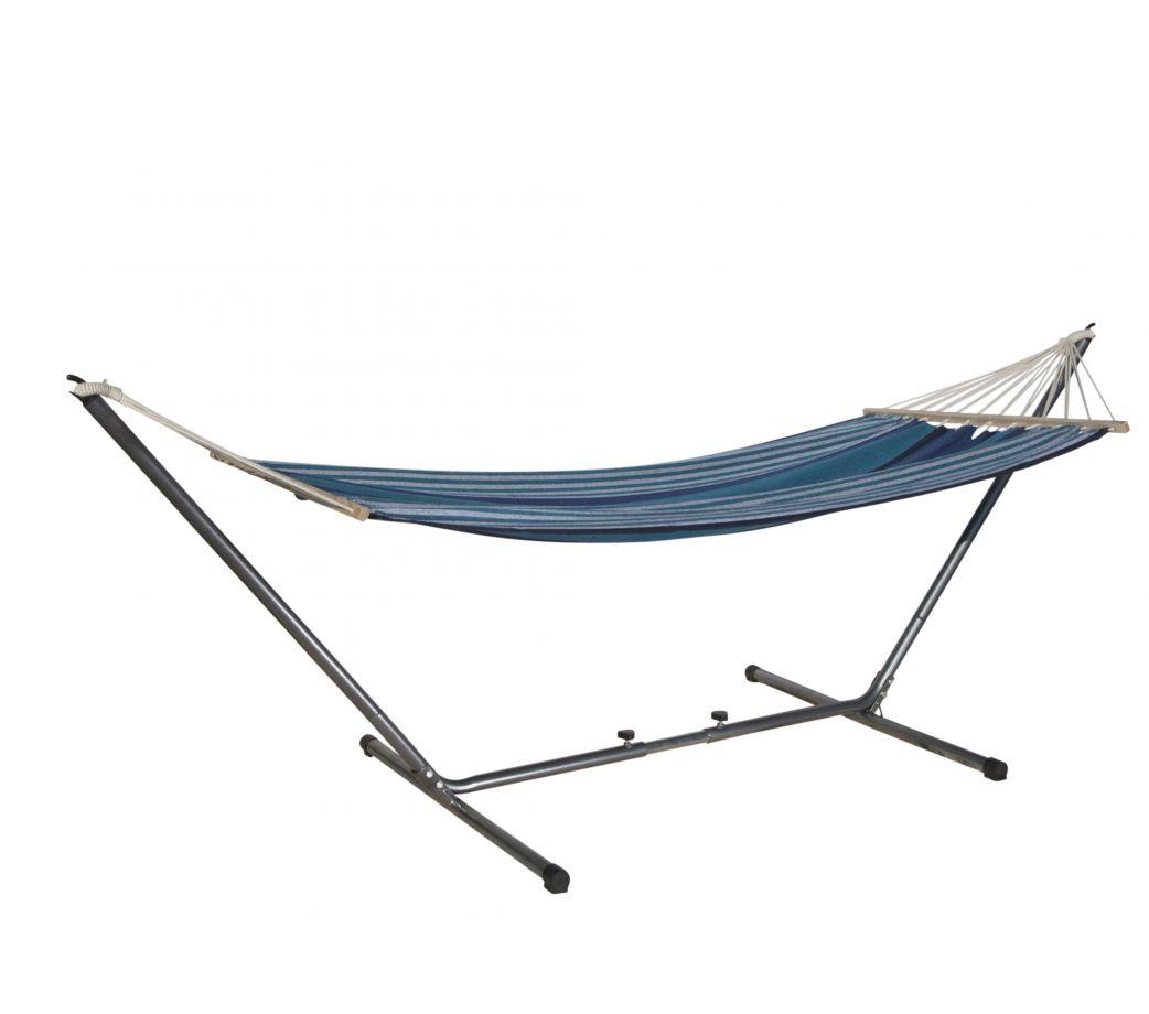 hamac barre mansalay bleu avec support. Black Bedroom Furniture Sets. Home Design Ideas