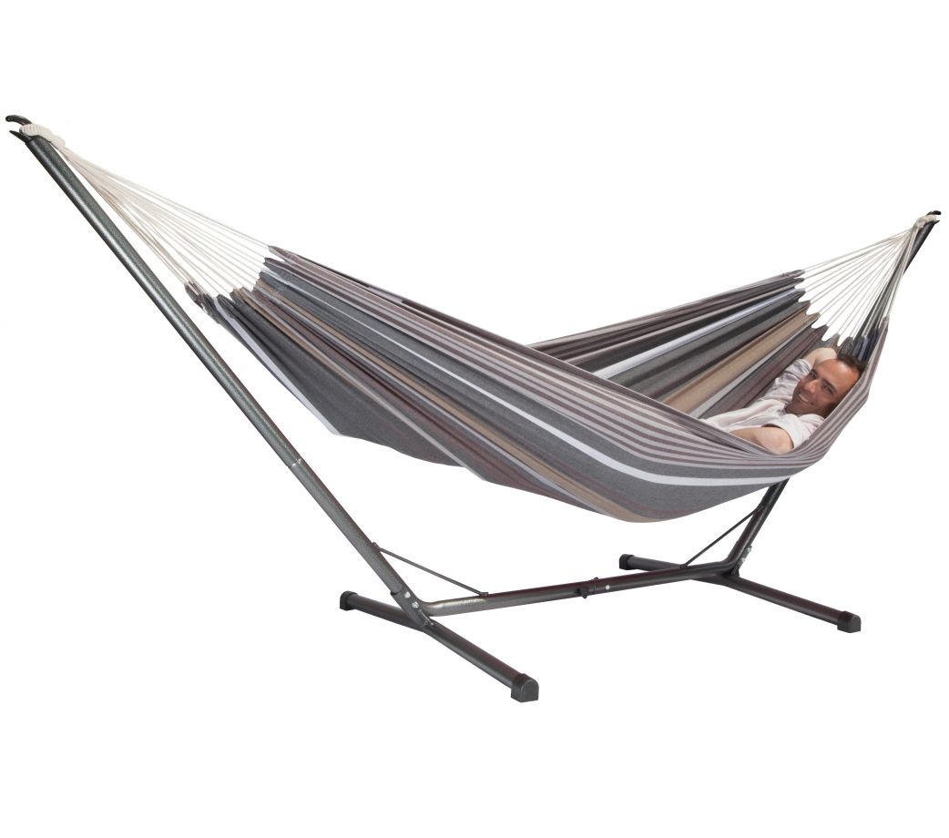 hamac avec support sumo grande sablayan cappuccino. Black Bedroom Furniture Sets. Home Design Ideas