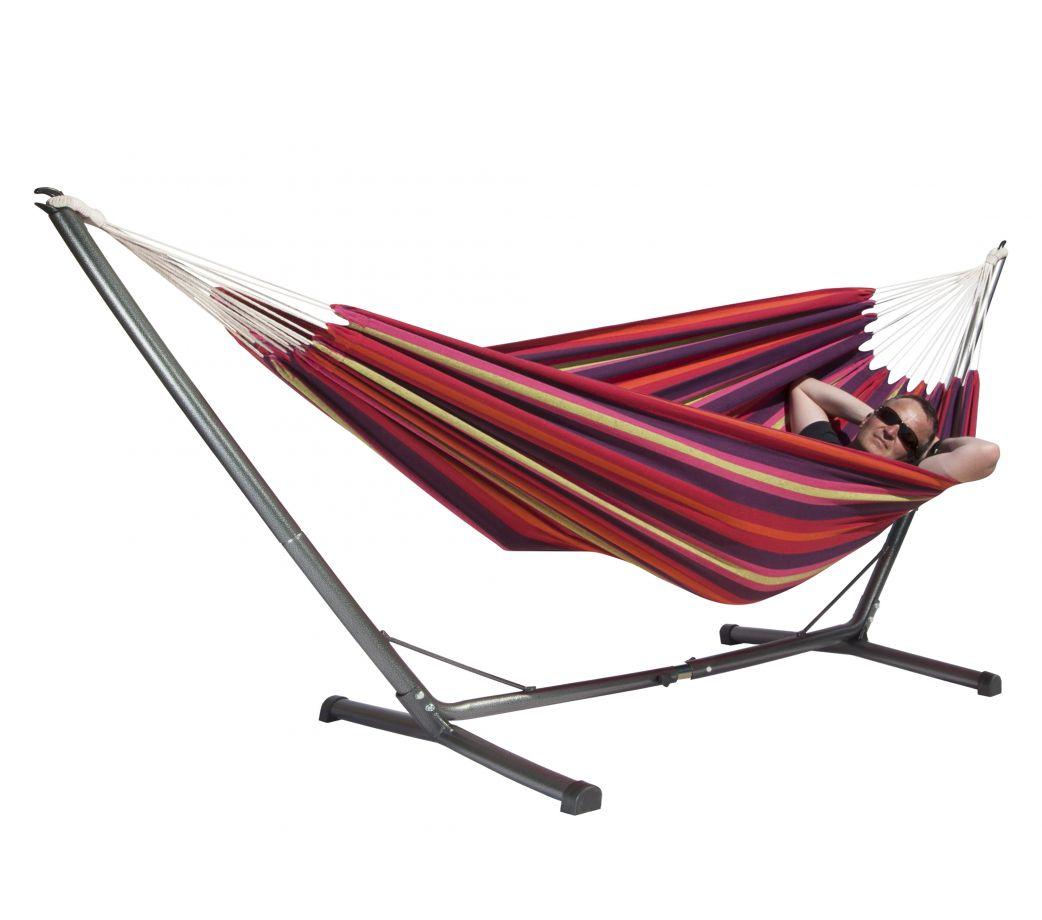 hamac sablayan rouge orange tamarillo sur pied sagay. Black Bedroom Furniture Sets. Home Design Ideas